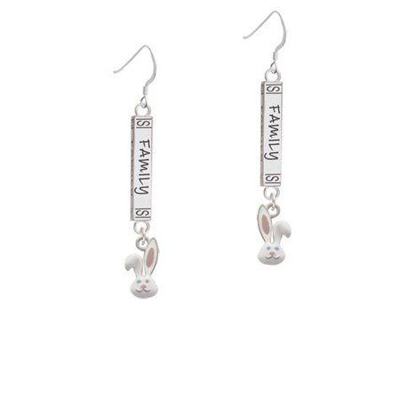Bunny Face - Family Bar French Earring - Bunny French