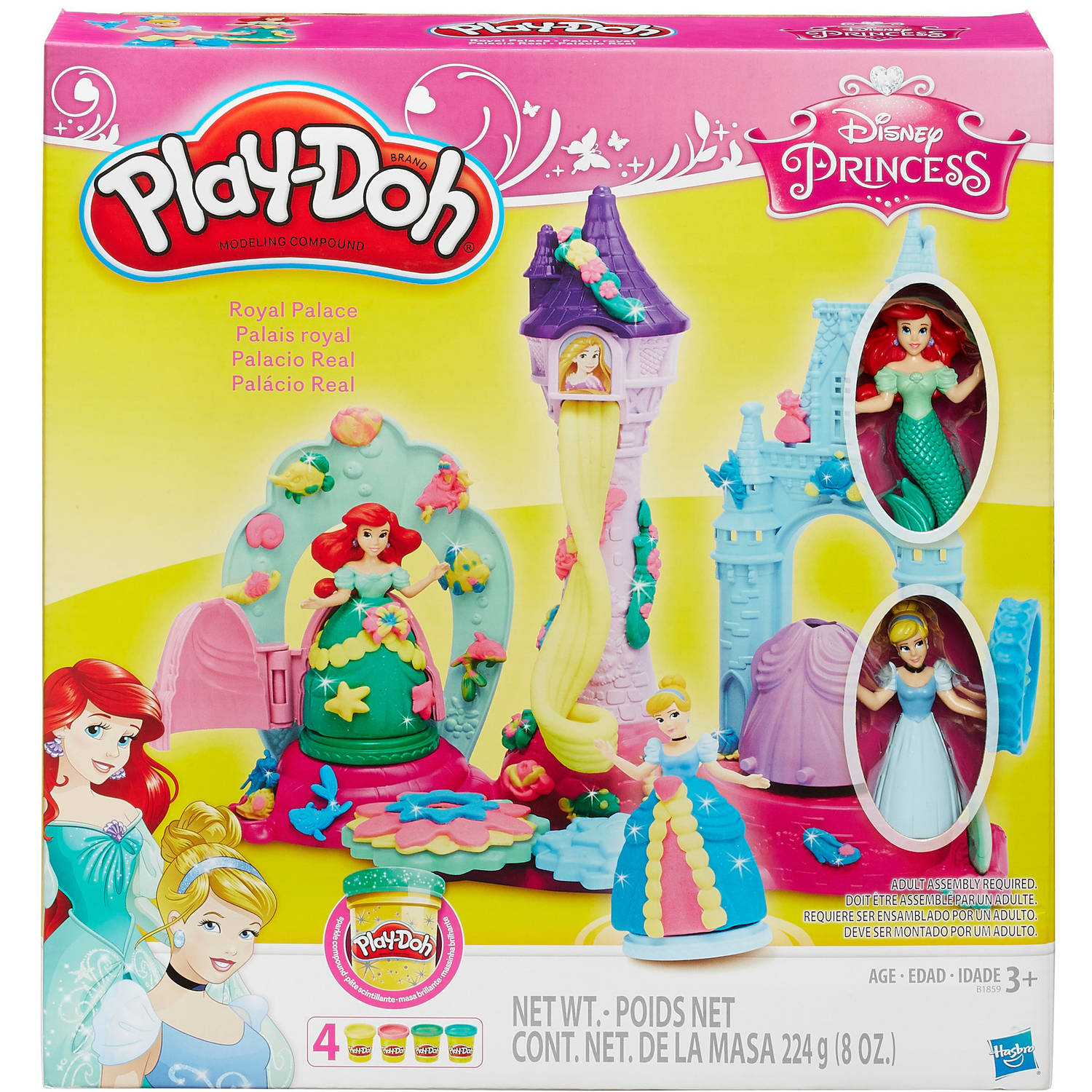 Play-Doh Disney Royal Palace with Cinderella and Ariel