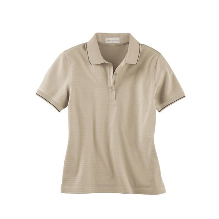 Il Migliore 75033 Ladies' Mercerized Textured Jacquard Polo Shirt Sandstone Small