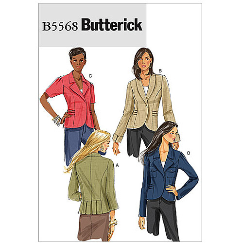 Butterick Pattern Misses' Jacket, AA (6, 8, 10, 12)