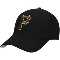 Men's Black Pittsburgh Pirates Basic Logo Adjustable Hat - OSFA