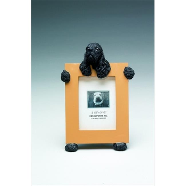ES Imports 35315-78c Cocker Spaniel Dog Frames in Black - Pack of 2