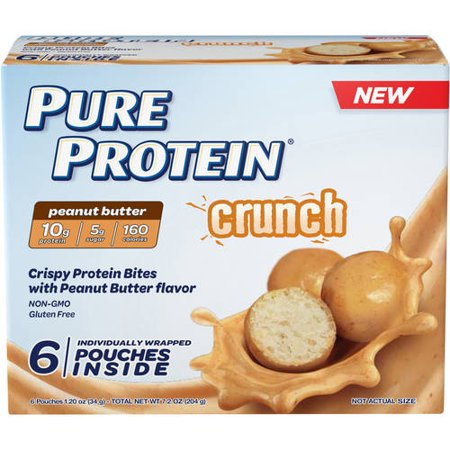Pure Protein Crunch Peanut Butter Bites  1 2 Oz  6 Ct
