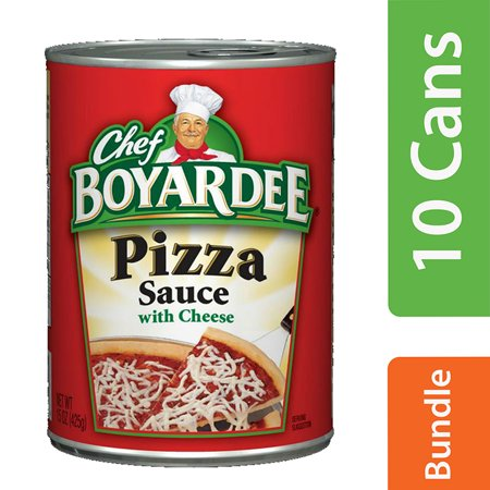 (10 Pack) Chef Boyardee Pizza Sauce with Cheese, 15