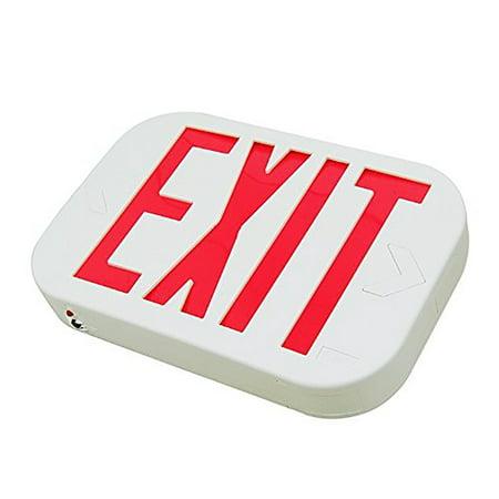 eToplighting Red Letter SMD LED Exit Emergency Sign Light/Battery Back-up Lighting, WMLS2038
