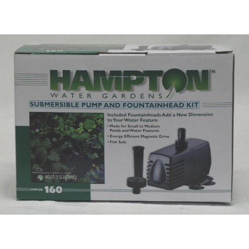 Hampton Water Gardens Pump/Fountain Kit 160 Gph