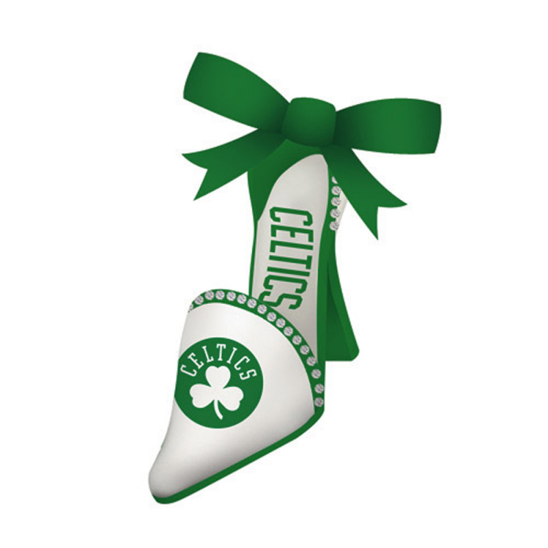 Boston Celtics Official NBA 3 inch x 1.5 inch  Team Shoe Christmas Ornament by Evergreen