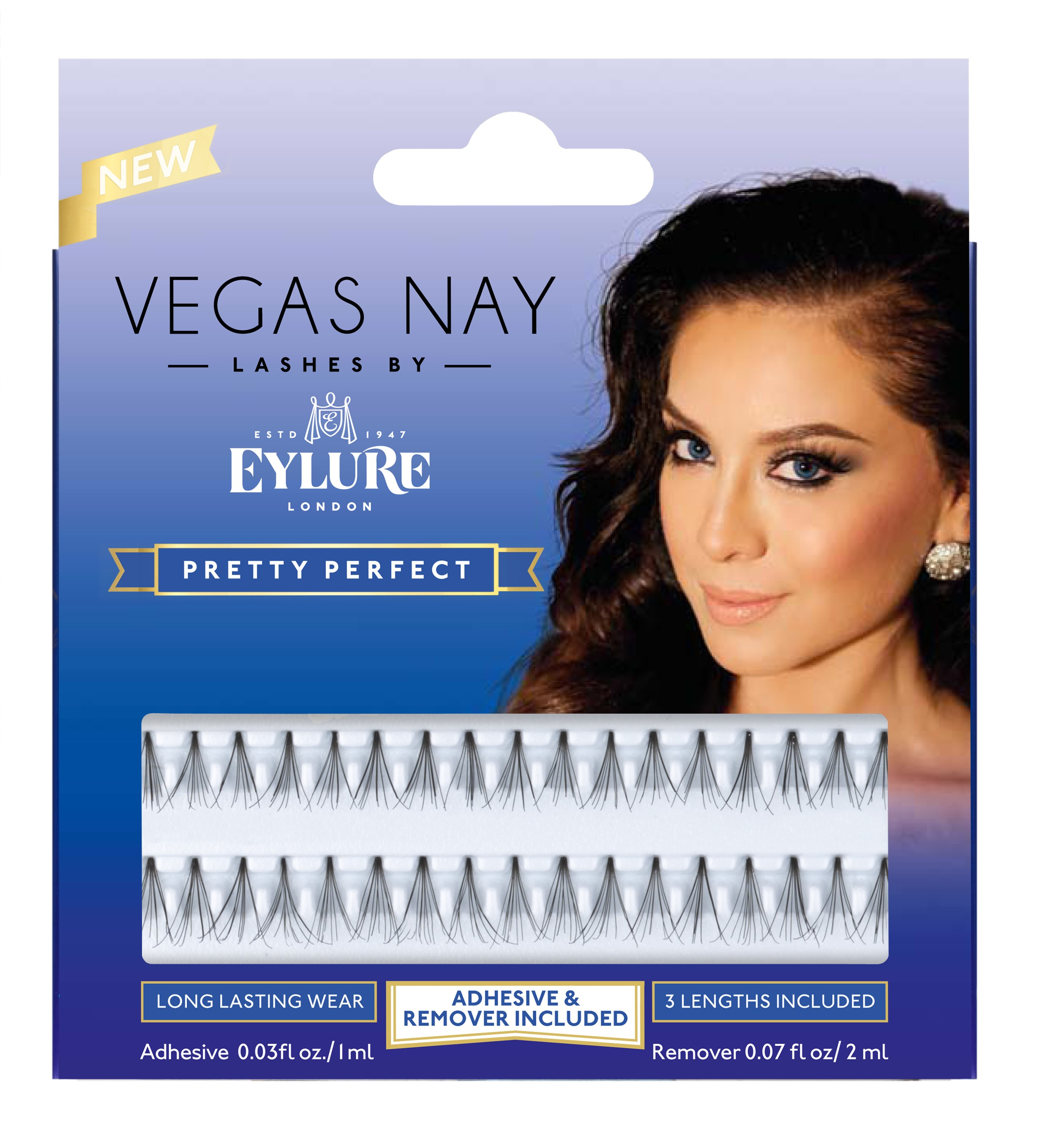 Eylure Vegas Nay Lashes, Pretty Perfect, Black