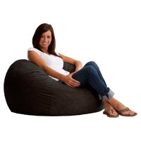 3' Fuf Comfort Suede Bean Bag, Multiple Colors