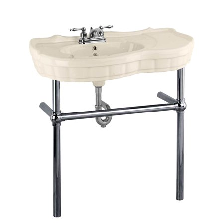 Bone Console Sink China Southern Belle with Black Nickel Bistro