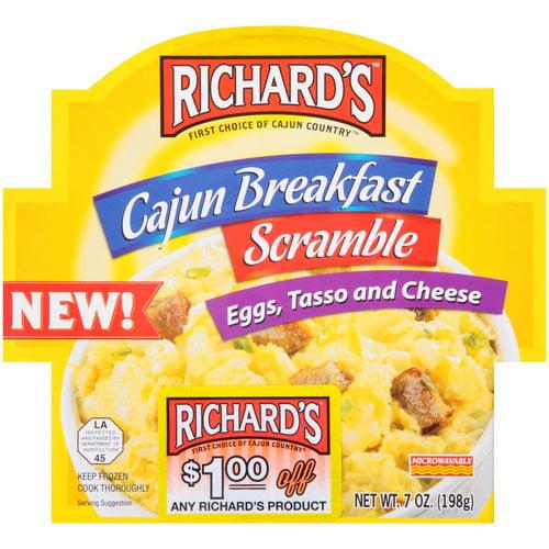 Richard's Cajun Breakfast Scramble Eggs, Tasso and Cheese, 7 oz