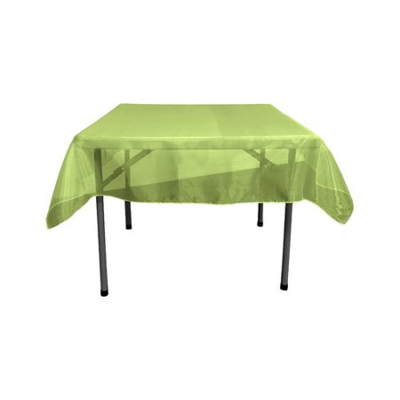 LA Linen Sheer Orgnza Square Tablecloth (Green Square Tablecloth)