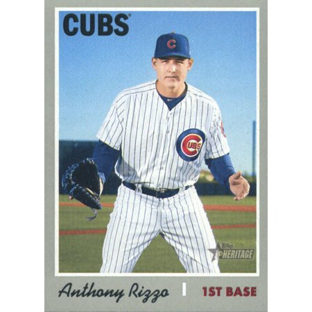 2019 Topps Heritage 406 Anthony Rizzo Chicago Cubs Sp Baseball Card