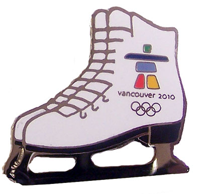 Vancouver 2010 Olympics Figure Skate Pin by