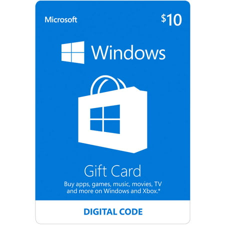 Microsoft Windows Store Gift Card $10 (Digital (Compare Store Cards)