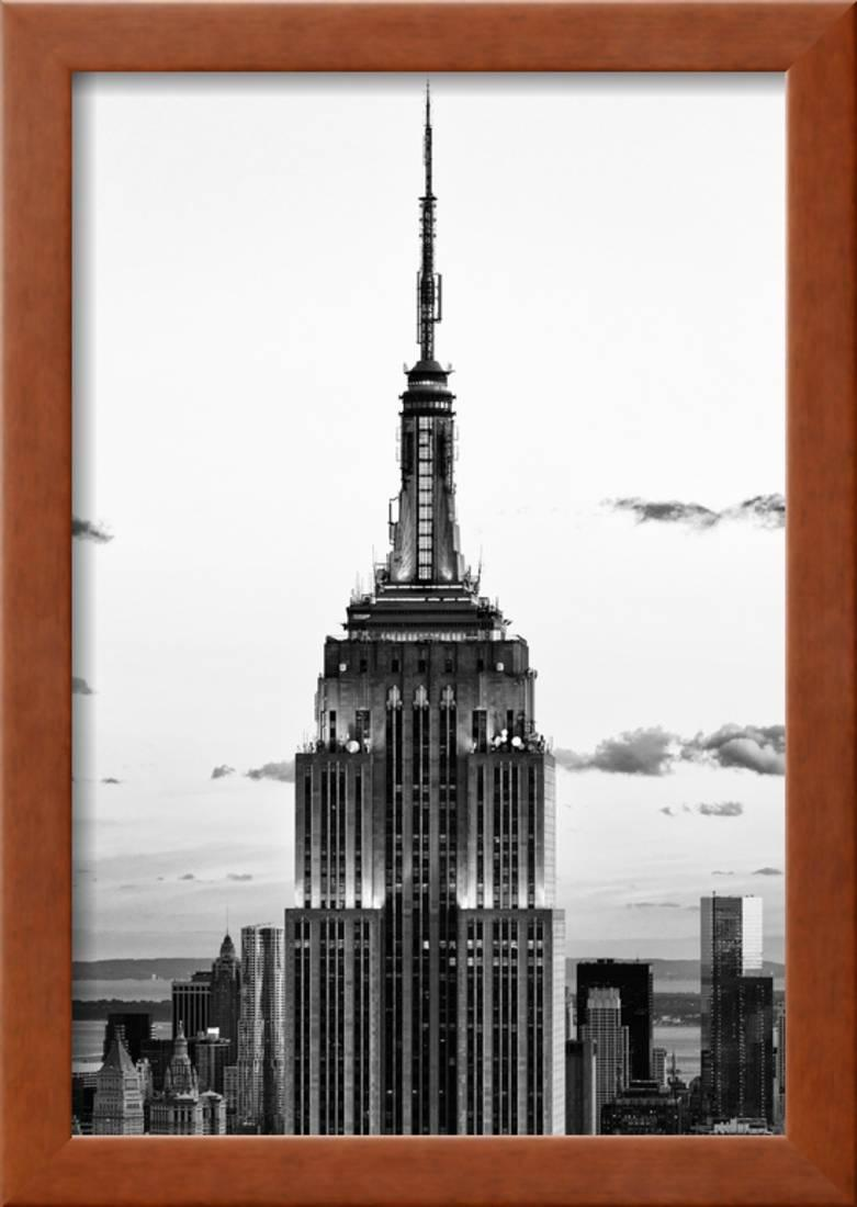 Top of Empire State Building, Manhattan, New York, White Frame, Full ...