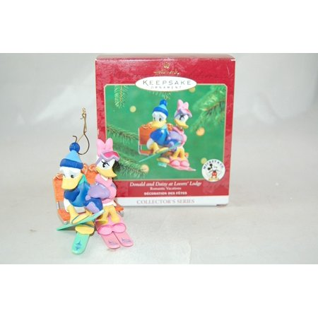 Hallmark Donald and Daisy At Lover's Lodge Christmas Holiday Ornament, By Hallmark Keepsake Christmas Ornament - Donald And Daisy