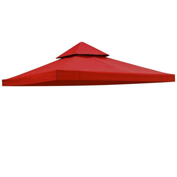 8x8 Gazebo Top Canopy Replacement 2 Tier Outdoor Garden ...
