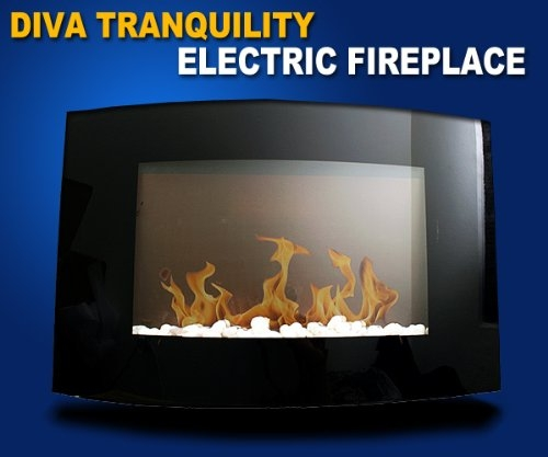 New MTN-G 1500W Diva Tranquility Wall Mount Electric Fire...