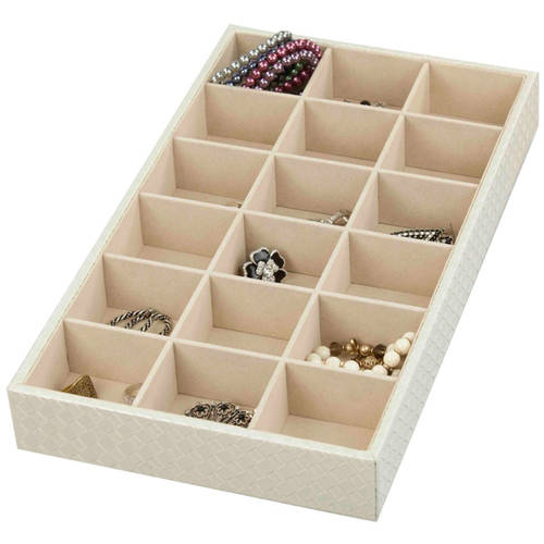 18-Compartment Jewelry Organizer, Faux Leather