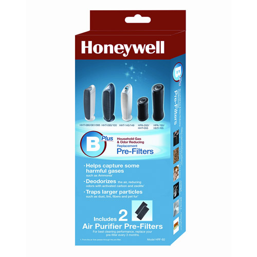 Honeywell Household Odor and Gas Reducing Pre-Filter, 2pk HRF-B2