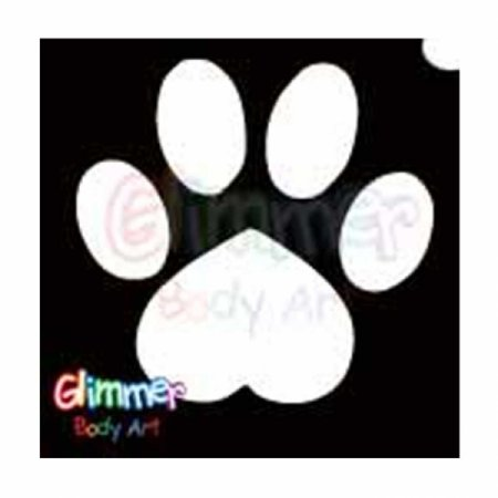 Glitter Tattoo Stencils - Paw (5/pack), Glimmer Body Arts Glitter Tattoo Stencils are non-latex, hypoallergenic and meet all cosmetic grade safety.., By Glimmer Body Art Ship from US