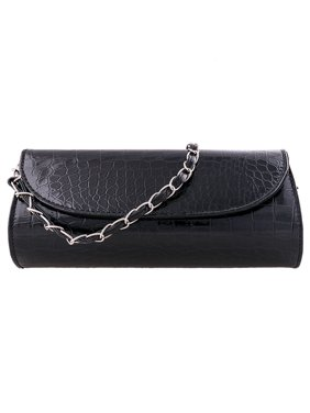 3093963597c Product Image Womens Envelope Evening Patent Croc Skin Embossed Party Clutch