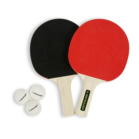 Dunlop 2 Player Table Tennis Accessory Set,Two Rackets and Three Ping Pong Balls,