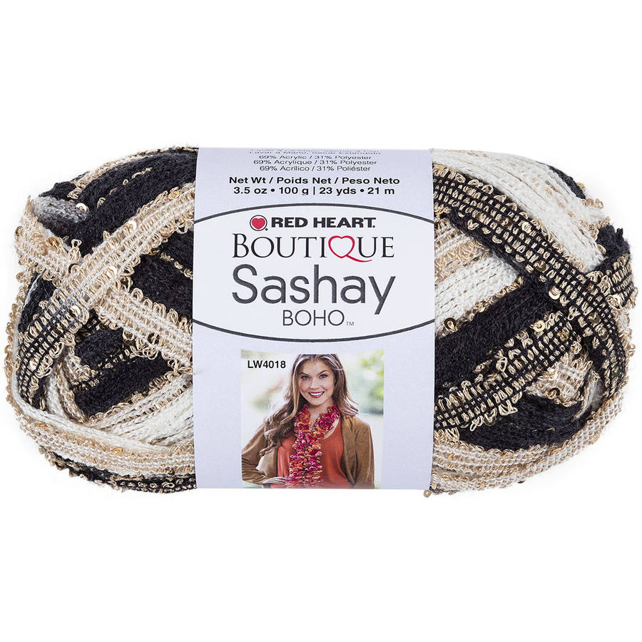 Red Heart Boutique Sashay Boho Yarn, Available in Multiple Colors