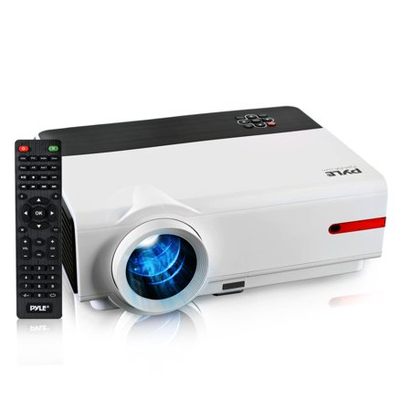 PYLE PRJLE83 - 1080p HD Home Theater Projector, Digital Display Screen Projects Up to 160'' (Mac & PC Compatible)