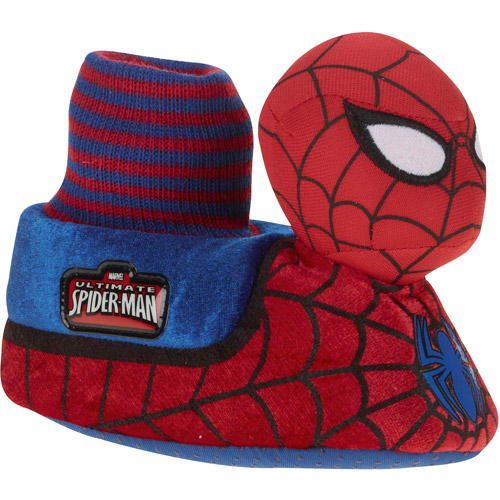 Spiderman Boy's Toddler Plush Slipper