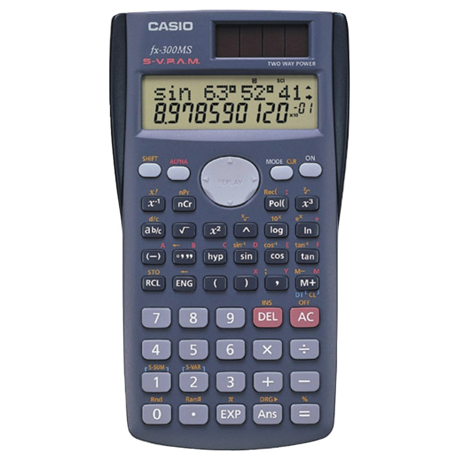 FX-300MS Scientific Calculator 1035B002, Power Source: Battery/Solar| Display Screen Type: LCD| Number of Display Digits: 10| Number of Display Lines: 2|.., By Casio