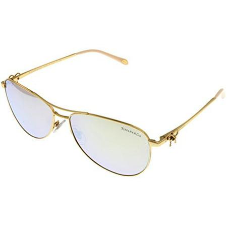 fdf630b688297 Tiffany   Co - Tiffany   Co. Sunglasses Aviator Womens Gold TF3044 600259  Size  Lens  Bridge  Temple  58 14 140 - Walmart.com
