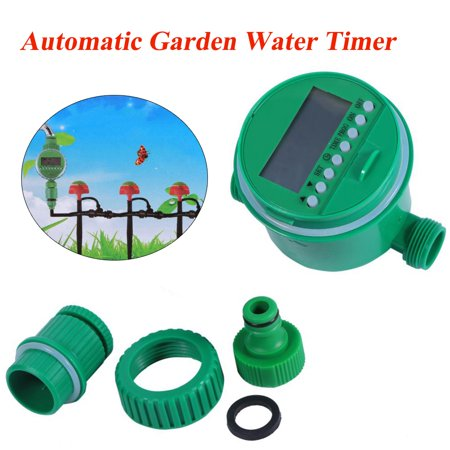 Mavis Laven Electronic Sprinkler Control Timer,Irrigation Timer,Automatic Digital LCD Electronic Home Water Timer Garden Irrigation Controller Programs Sprinkler Control (Best Irrigation Controller 2019)