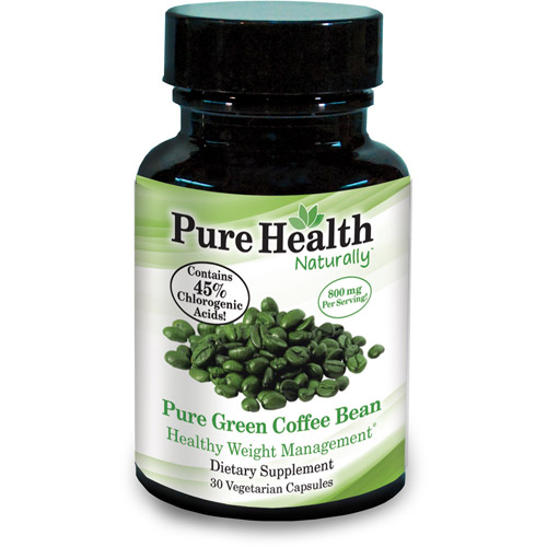 Pure Health Green Coffee Bean 400mg Capsules, 30 count