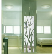 JPGIF Modern Mirror Style Removable Decal Tree Art Mural Wall Stickers Home Room Decor