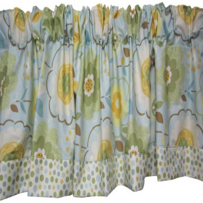 Baby Doll Bedding Botanic Garden Valance, Green by Baby Doll Bedding