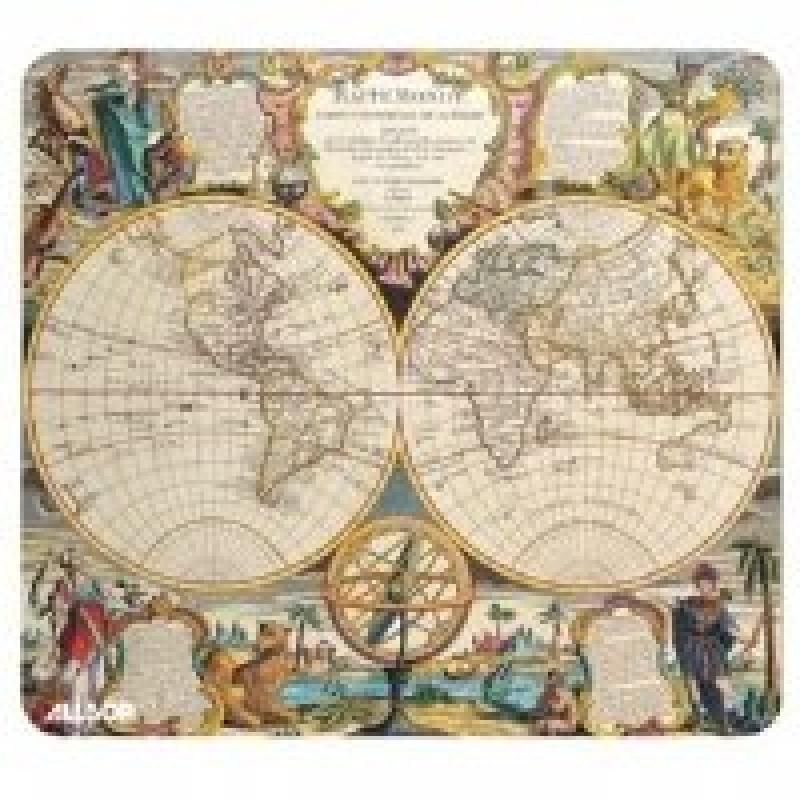Allsop Soft Top Mouse Pad, Nautical Charts - Double Globe