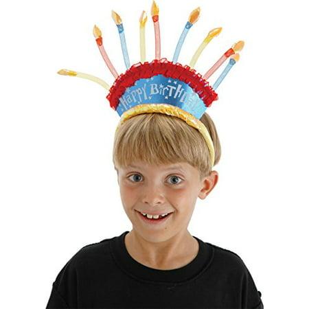 Elope Birthday Candles Headband - Birthday Cake Costume For Adults