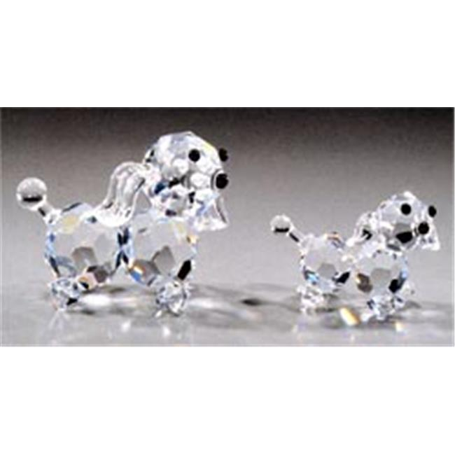 Asfour Crystal 643-20 1.88 L x 1.69 H in. Crystal Puppy Animals Figurines