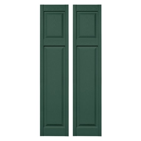 Builders Edge 15W In  Cottage Style Raised Panel Vinyl Shutters