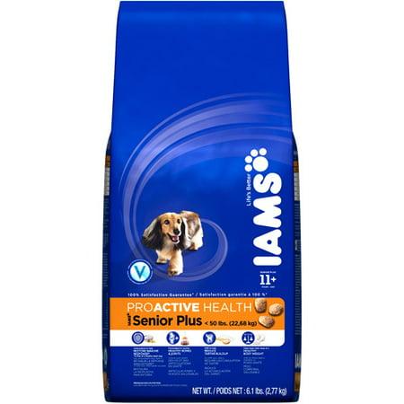 Senior Dog Food >> Iams Proactive Health Senior Plus 11 Years Dog Food 6 1 Lbs