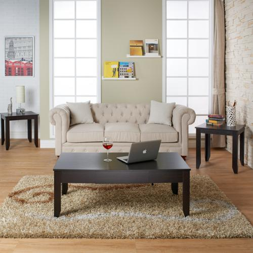 Furniture of America Pelise 3-piece Contemporary Cappuccino Accent Table Set by Overstock