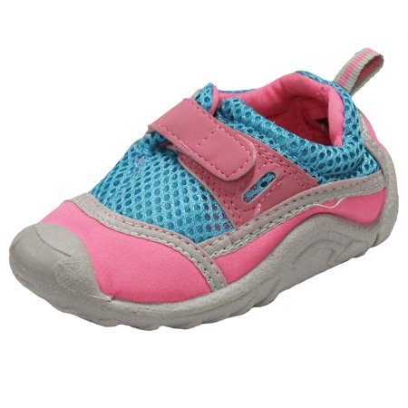 71d90f9b350a Sun Smarties - Sun Smarties Girls  Swim Shoes - Pink and Aqua - With  Antimicrobial Insoles - Walmart.com