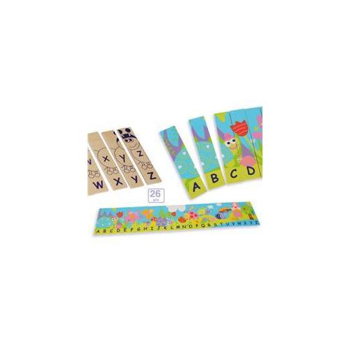 Gorgeous Products 8524 Boikido Eco-friendly Wooden Double Sided Alphabet Puzzle