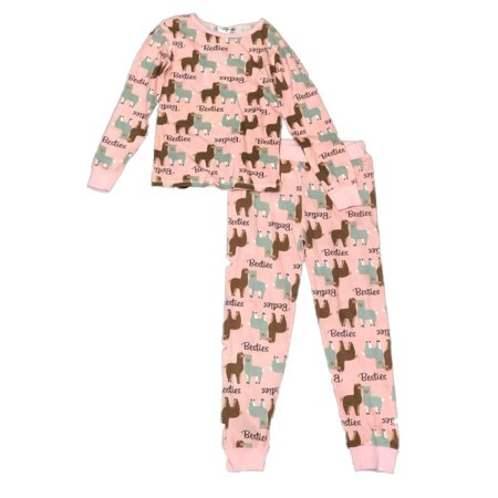 Girls 2-piece Llama Pajama Sleep Set (Big Girl's & Little Girls) (Superman Pajamas For Girls)