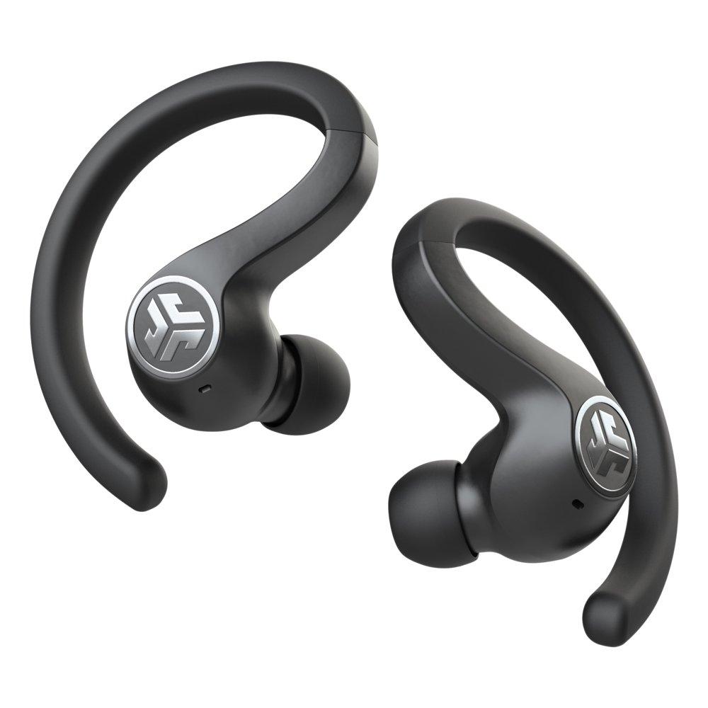 JLab Audio JBuds Air Sport True Wireless Bluetooth Earbuds + Charging Case - Black - IP66 Sweat Resistance - Class 1 Bluetooth 5.0 Connection - 3 EQ Sound Settings JLab Signature, Balanced, Bass Boost
