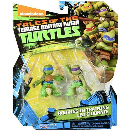 TMNT 5 Rookies In Training Leonardo And Donatello Basic Action Figure 2 Pack