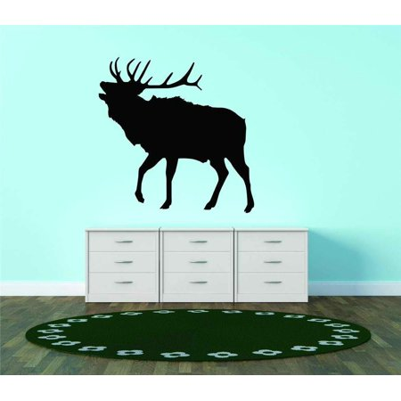 Deer Buck Elk Silhouette Antler Animal Vinyl Wall Decal Vinyl Decor 15x15