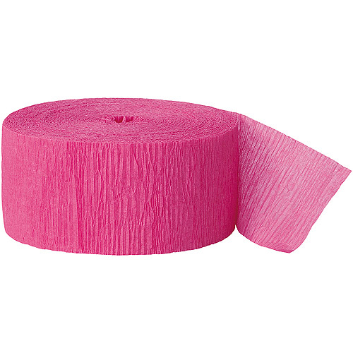 (5 pack) Crepe Paper Streamers, 81 ft, Hot Pink, 1ct